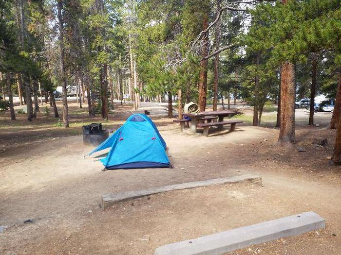 Baby Doe Campground, Site 23  table and fire ring