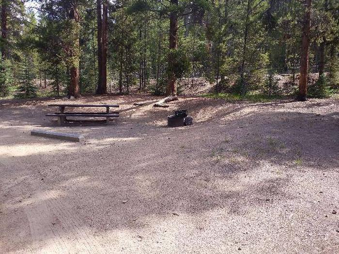 Baby Doe Campground, Site 24 Table and fire ring