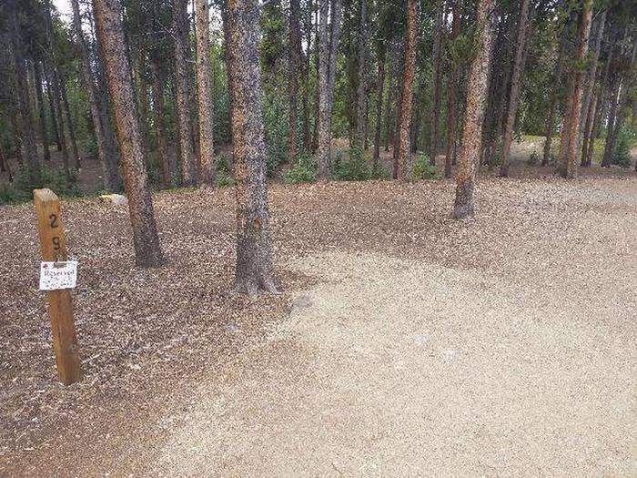 Baby Doe Campground, Site 29 marker