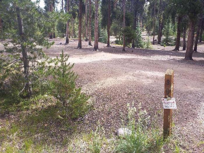 Baby Doe Campground, Site 30 marker
