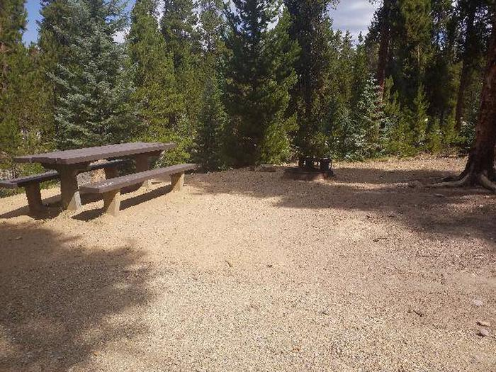Baby Doe Campground, Site 30 table and fire ring