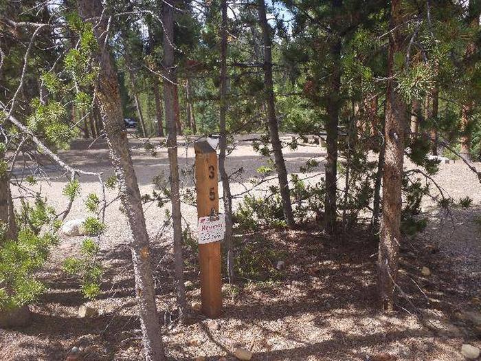 Baby Doe Campground, Site 35 marker