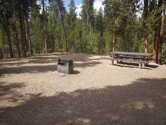 Baby Doe Campground, Site 35 table and fire ring
