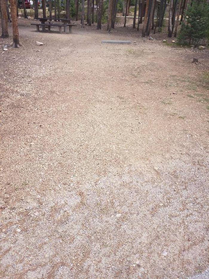 Baby Doe Campground, Site 38 parking