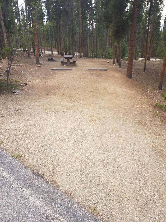 Baby Doe Campground, site 42 parking