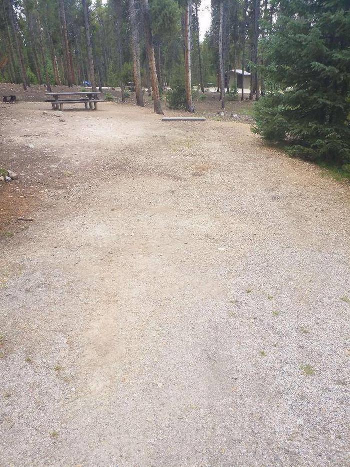 Baby Doe Campground, site 44 parking