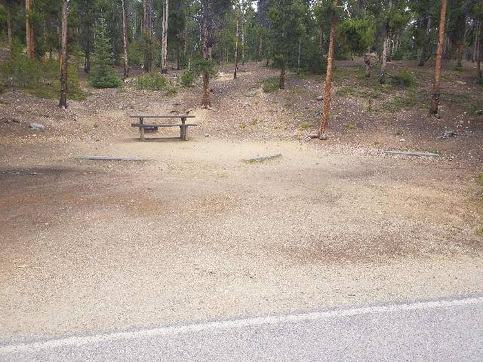 Baby Doe Campground, site 45 parking