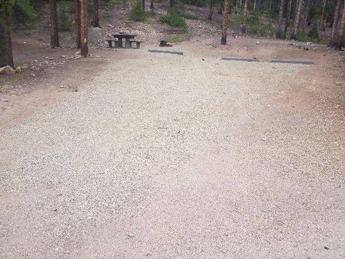 Baby Doe Campground, site 46 parking
