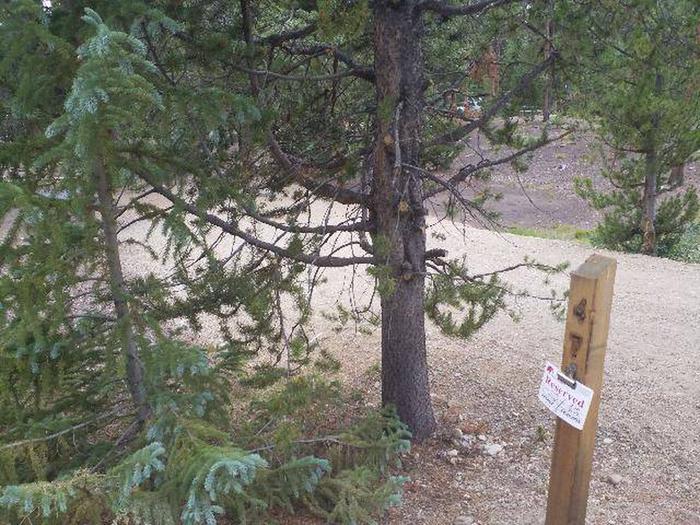 Baby Doe Campground, site 47 marker