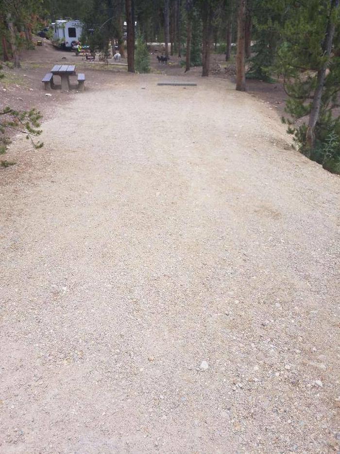 Baby Doe Campground, site 47 parking