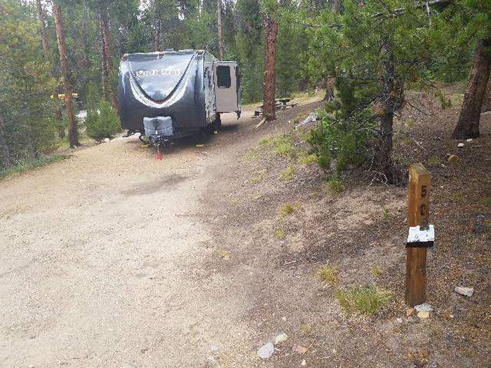 Baby Doe Campground, site 50 marker