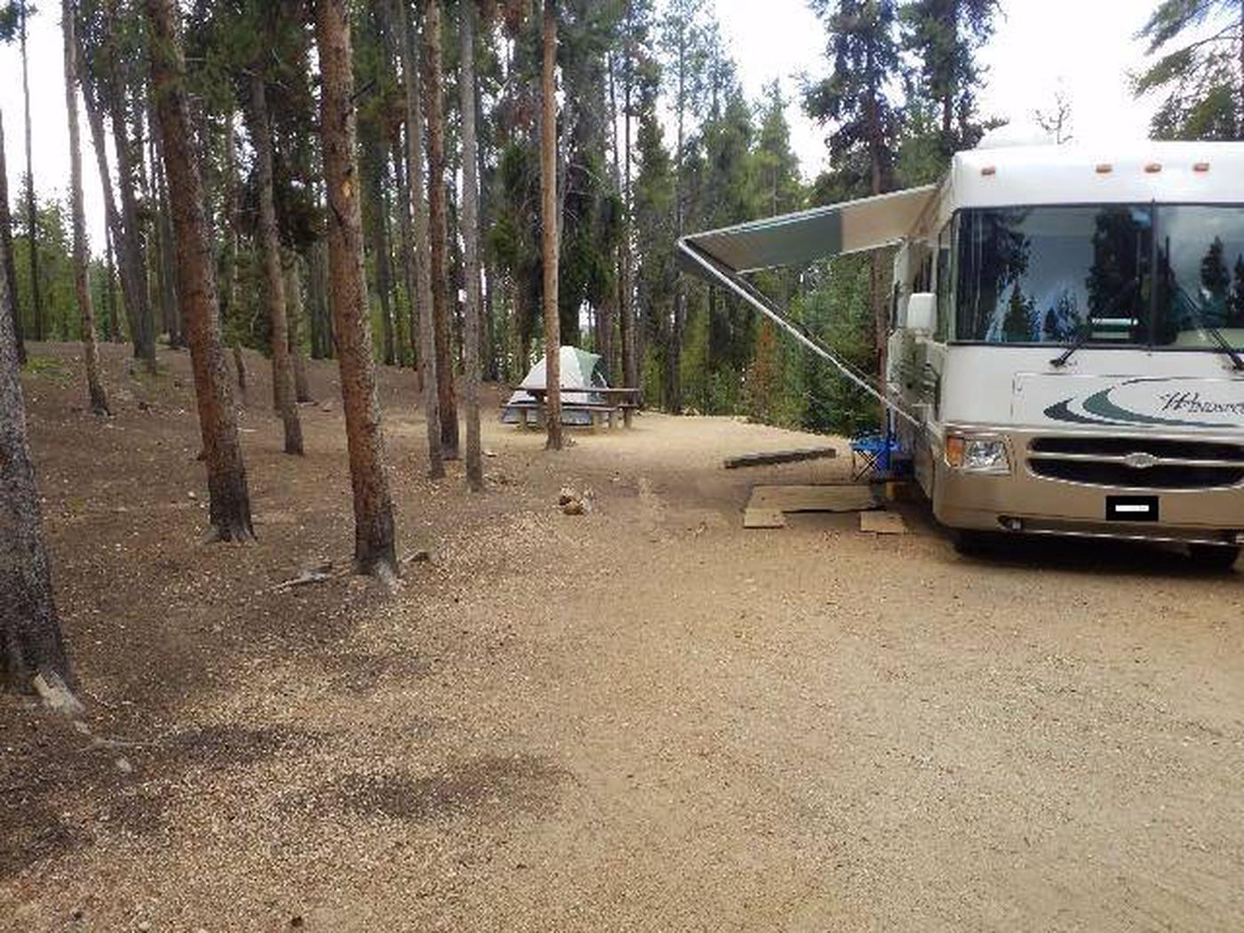 Baby Doe Campground, Site 2 parking