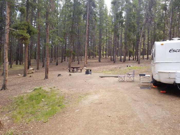 Baby Doe Campground, Site 15 parking