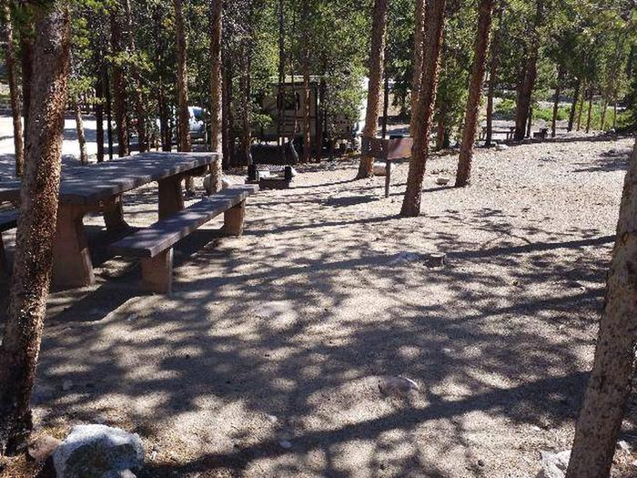 Lakeview Campground, Site A1 table