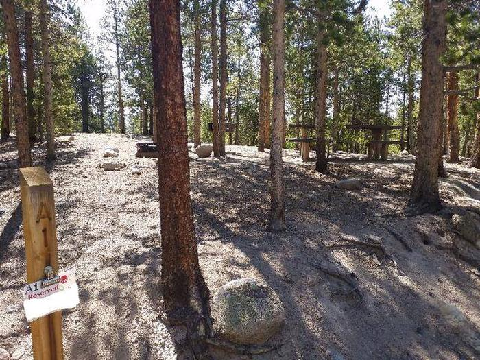 Lakeview Campground, Site A1 marker