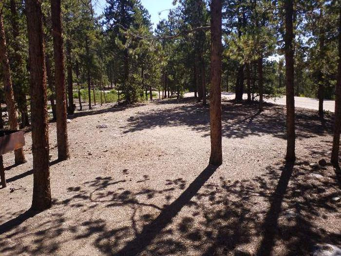 Lakeview Campground, Site A1 clearing