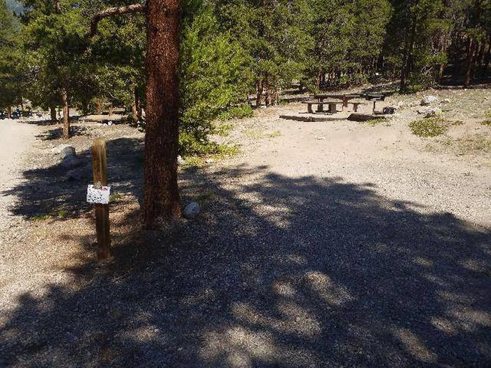 Lakeview Campground, Site A4 marker