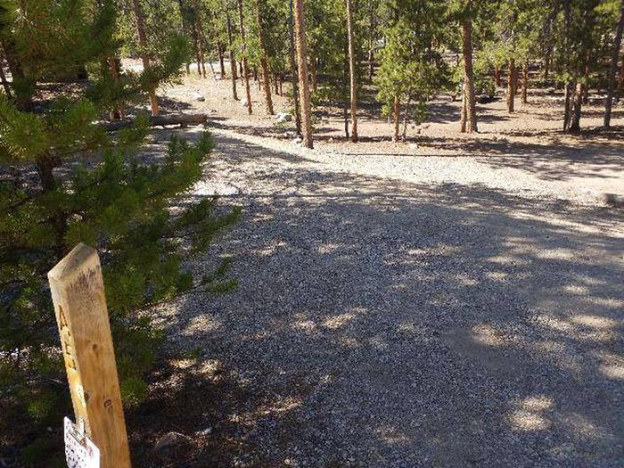 Lakeview Campground, Site A5 marker