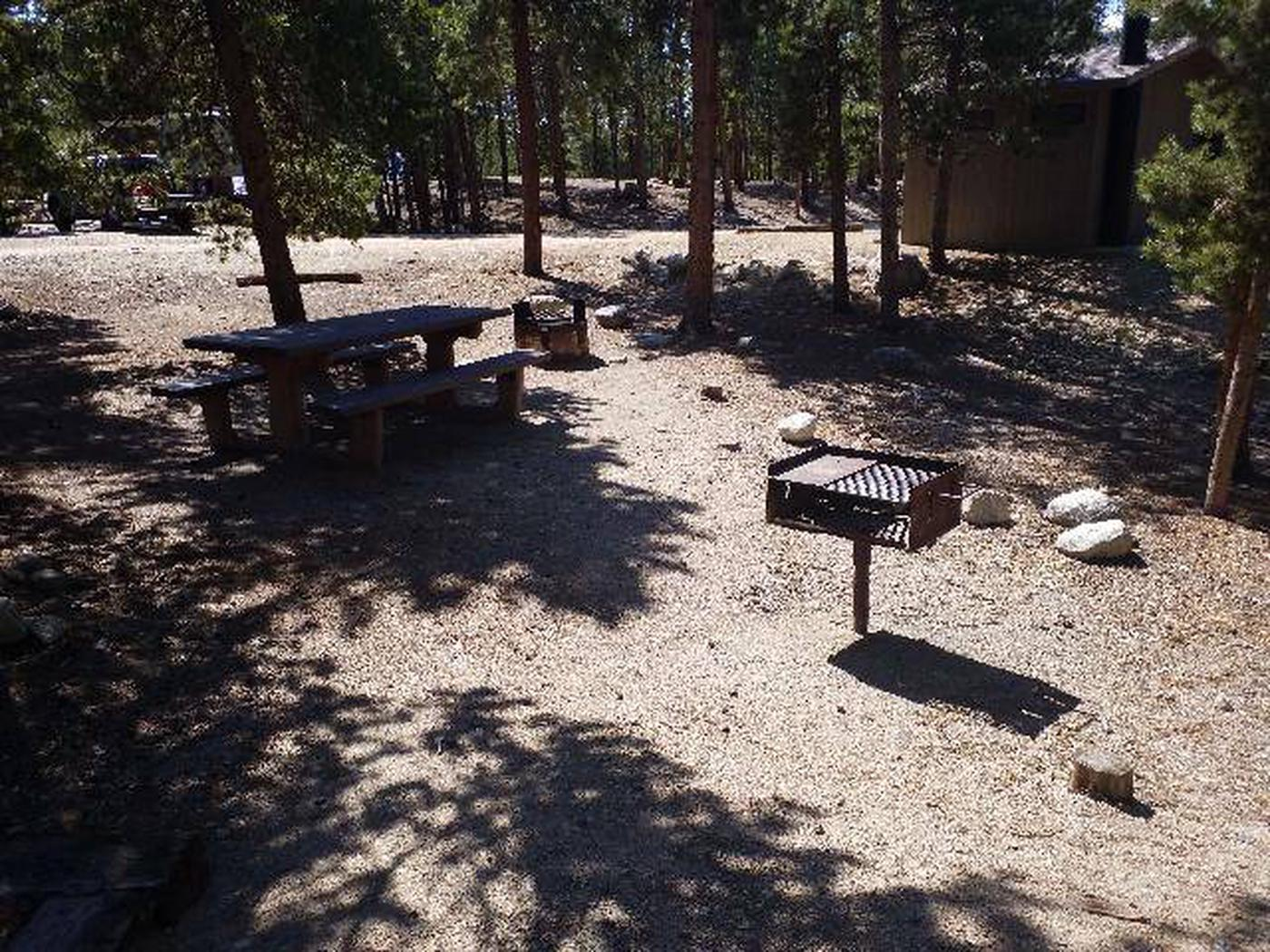 Lakeview Campground, Site A5 table and grill
