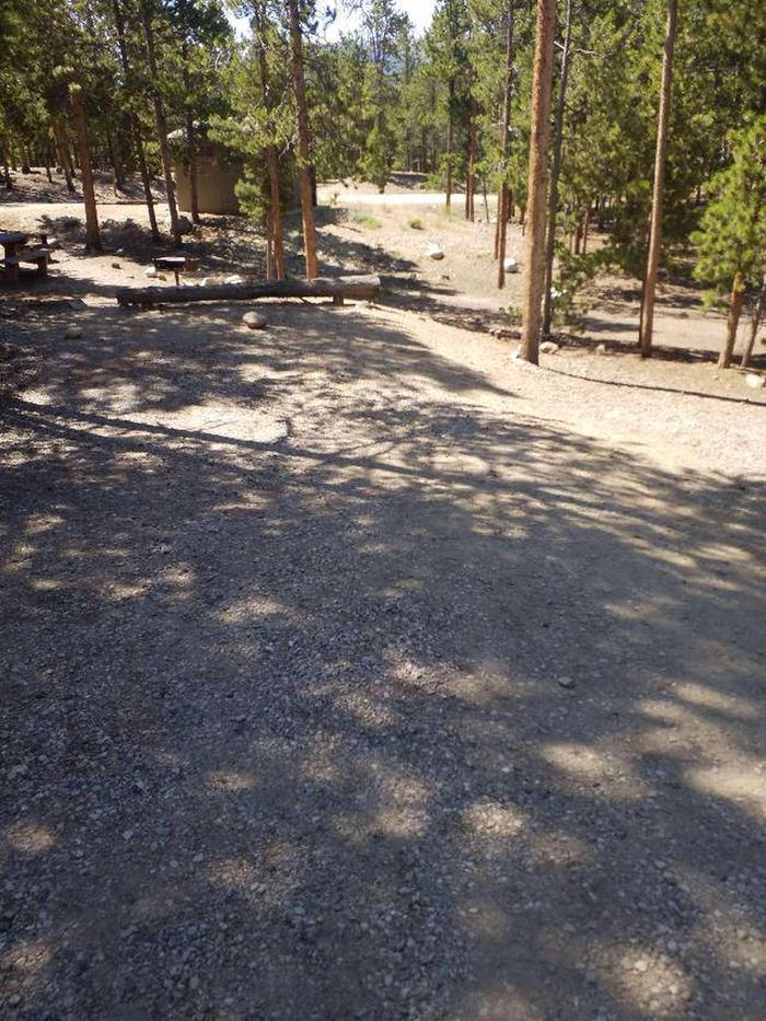 Lakeview Campground, Site A5 parking