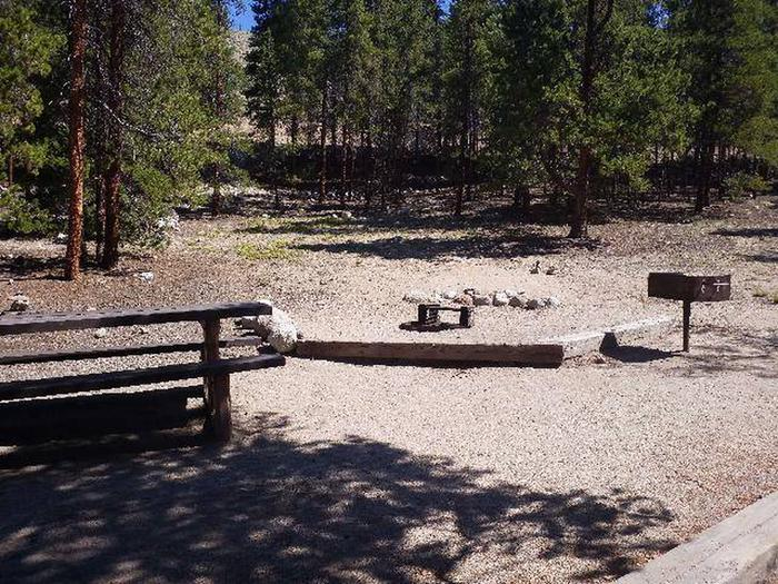 Lakeview Campground, Site A6 table and grill
