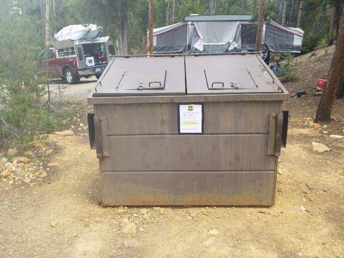 Baby Doe Campground, dumpster