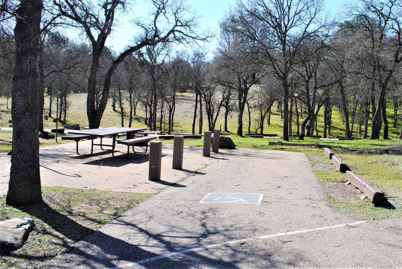 Acorn Campground Site 19 parkingHandicap Slip