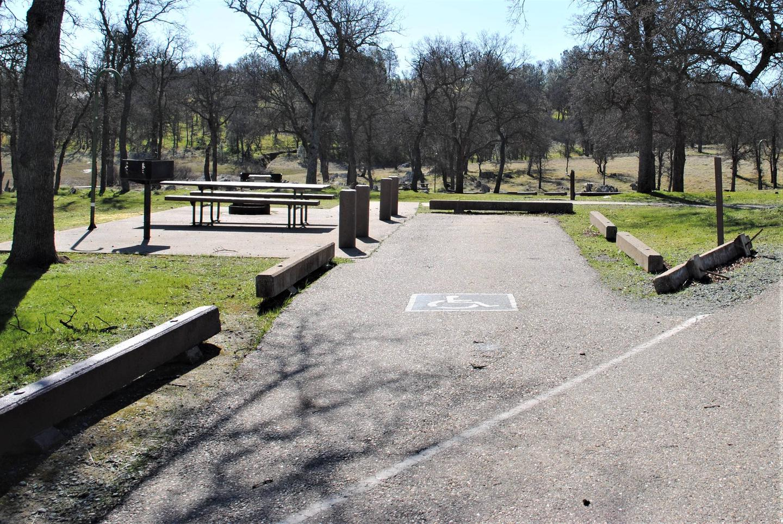 Acorn Campground Site 20 parkingHandicap Slip