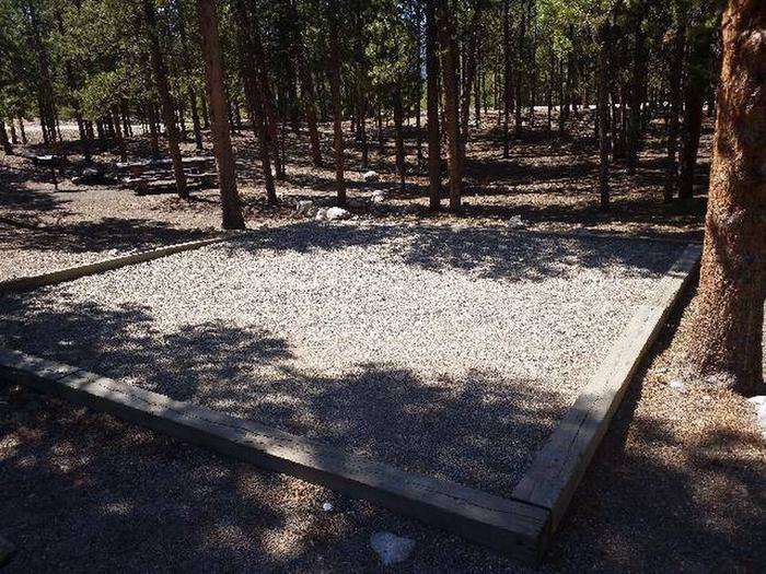 Lakeview Campground, Site A7 tent pad