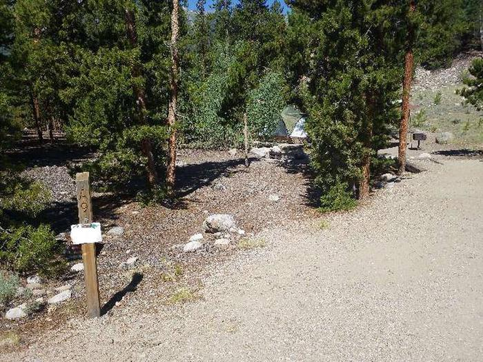 Lakeview Campground, site A9 marker