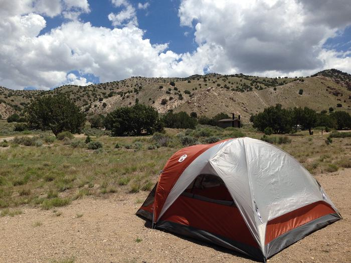 Tent site at Simpson Springs Campground