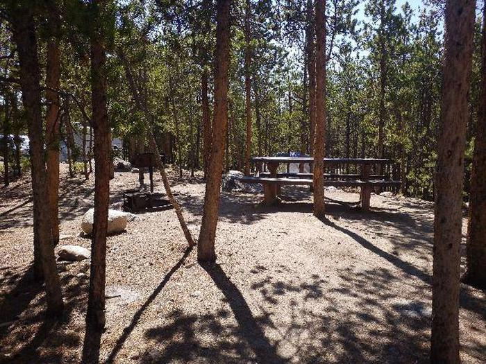 Lakeview Campground, site A11 picnic table