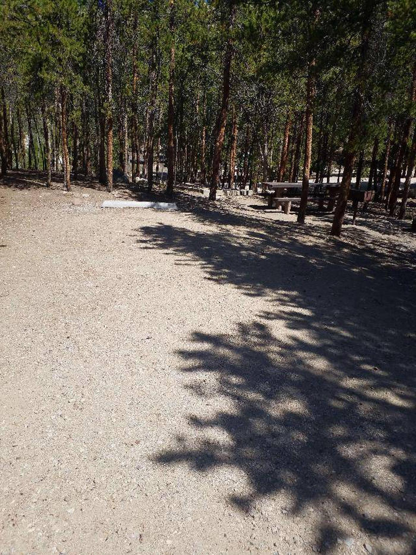 Lakeview Campground, site A12 parking