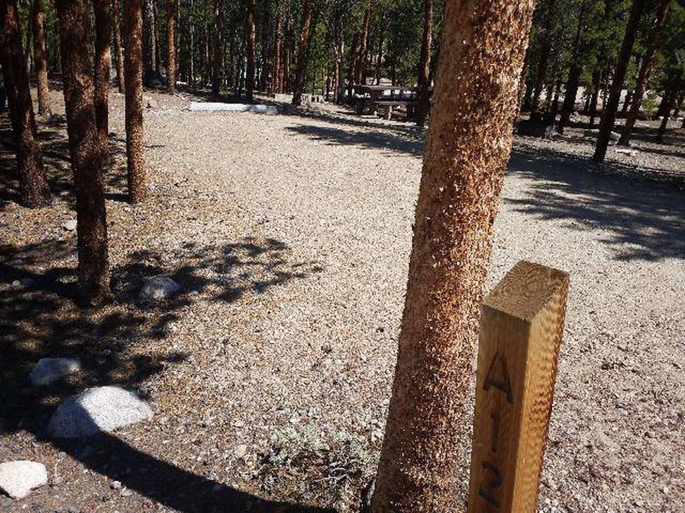 Lakeview Campground, site A12 marker