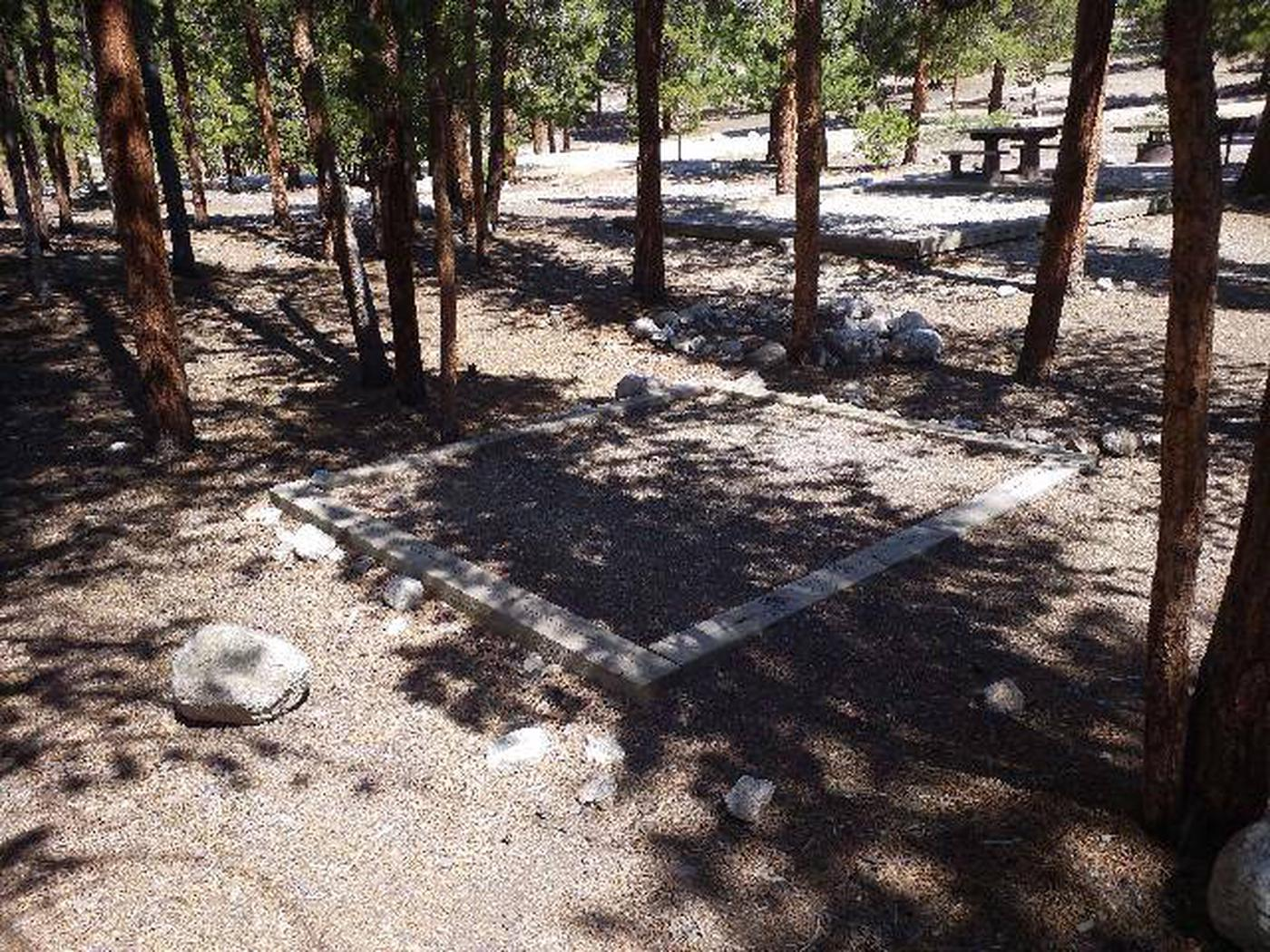 Lakeview Campground, site A14 tent pad