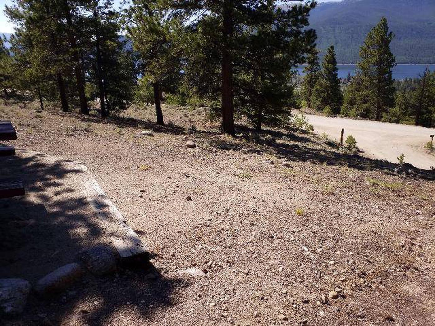 Lakeview Campground, site B1 view