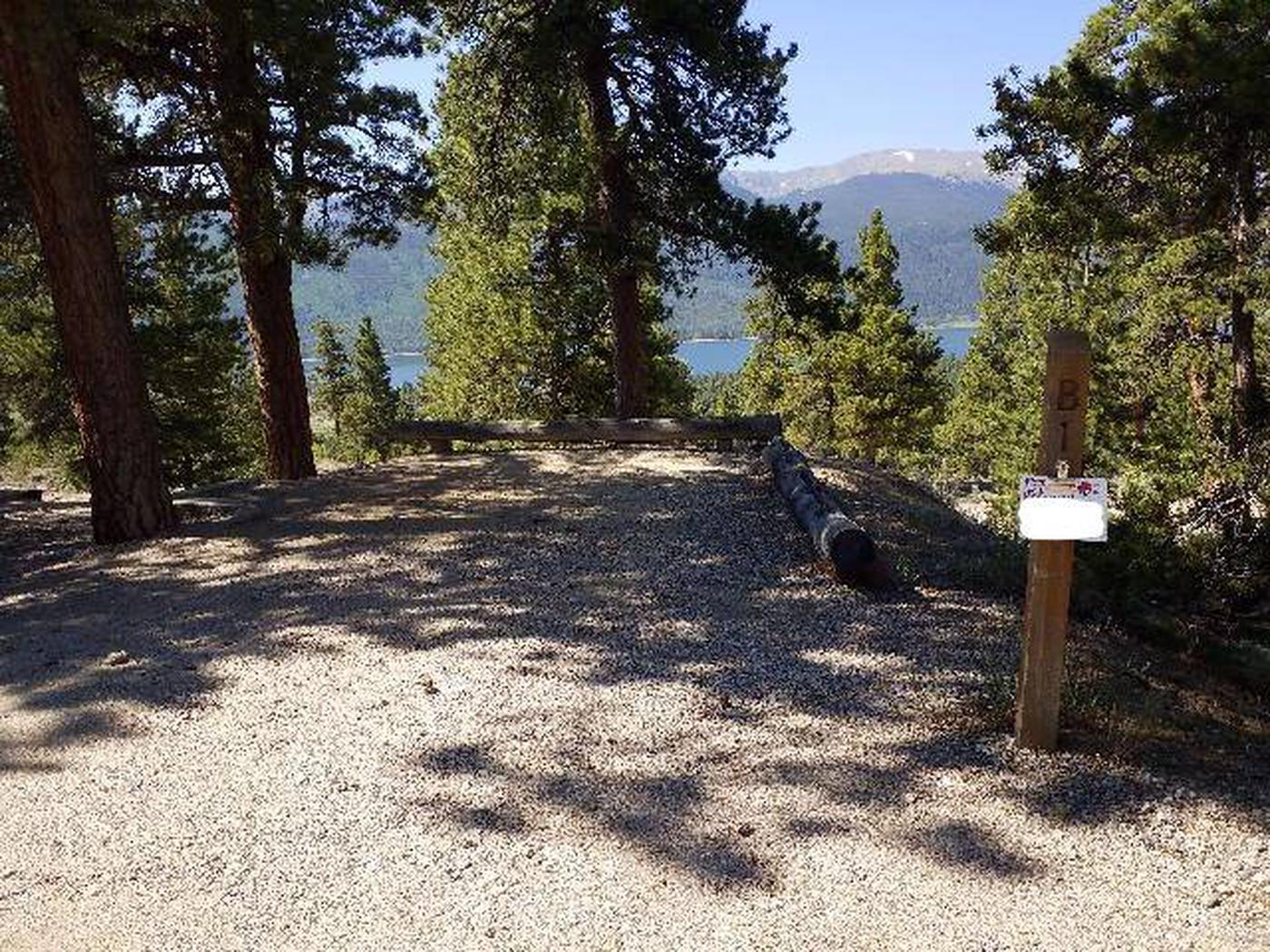 Lakeview Campground, site B1 marker