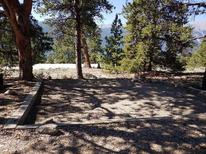 Lakeview Campground, site B2 tent pad