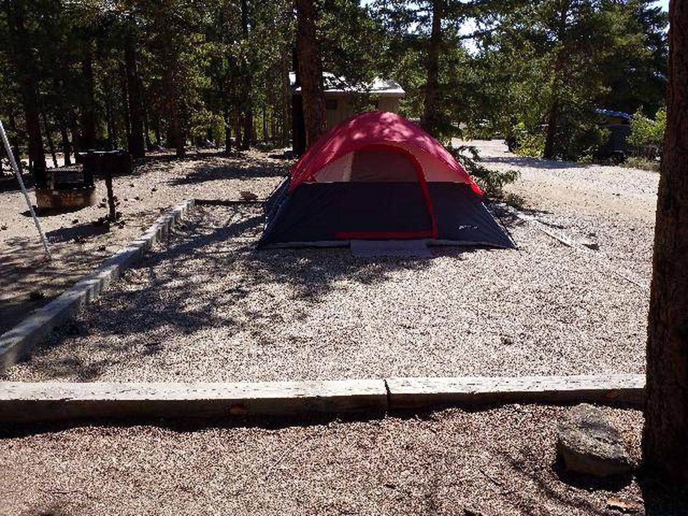 Lakeview Campground, site B5 tent pad