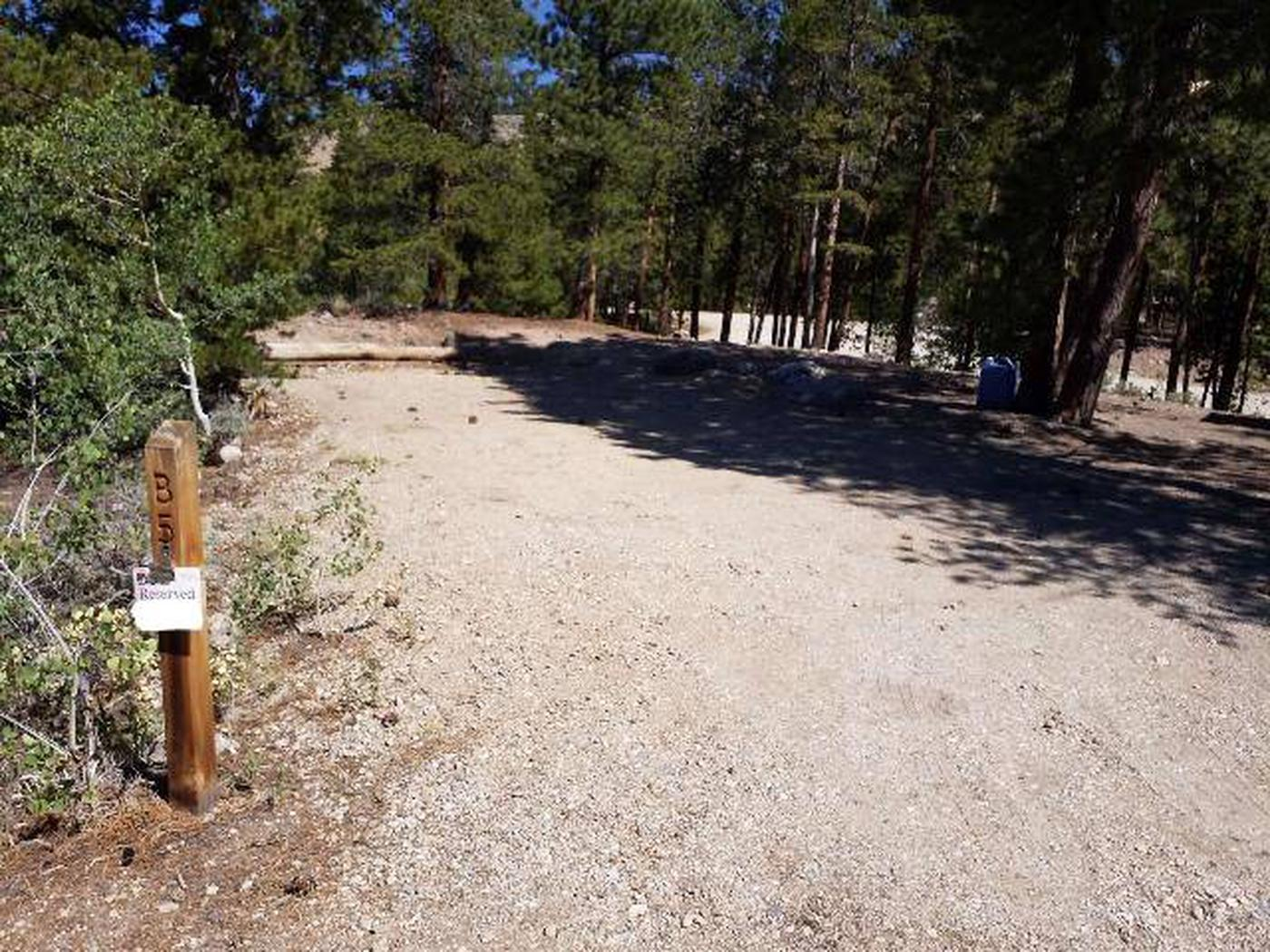Lakeview Campground, site B5 marker