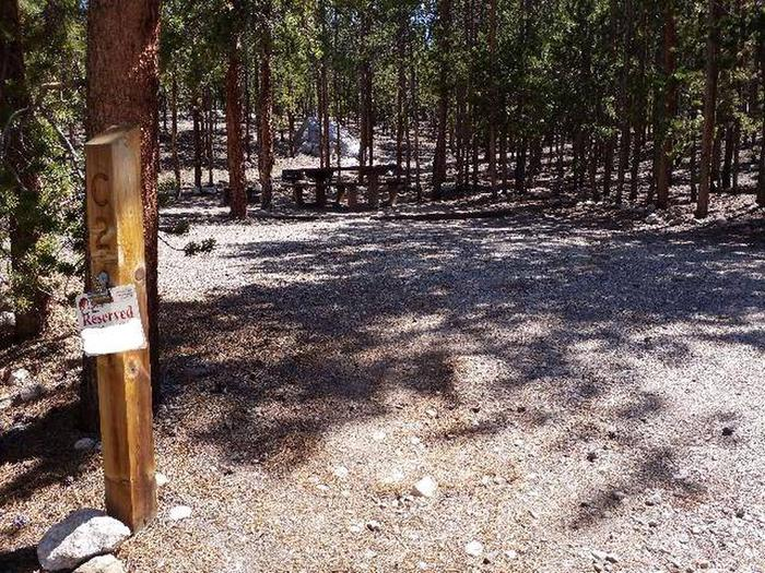 Lakeview Campground, site C2 marker