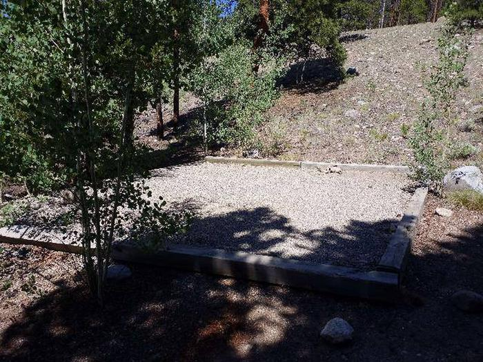 Lakeview Campground, site C3 tent pad