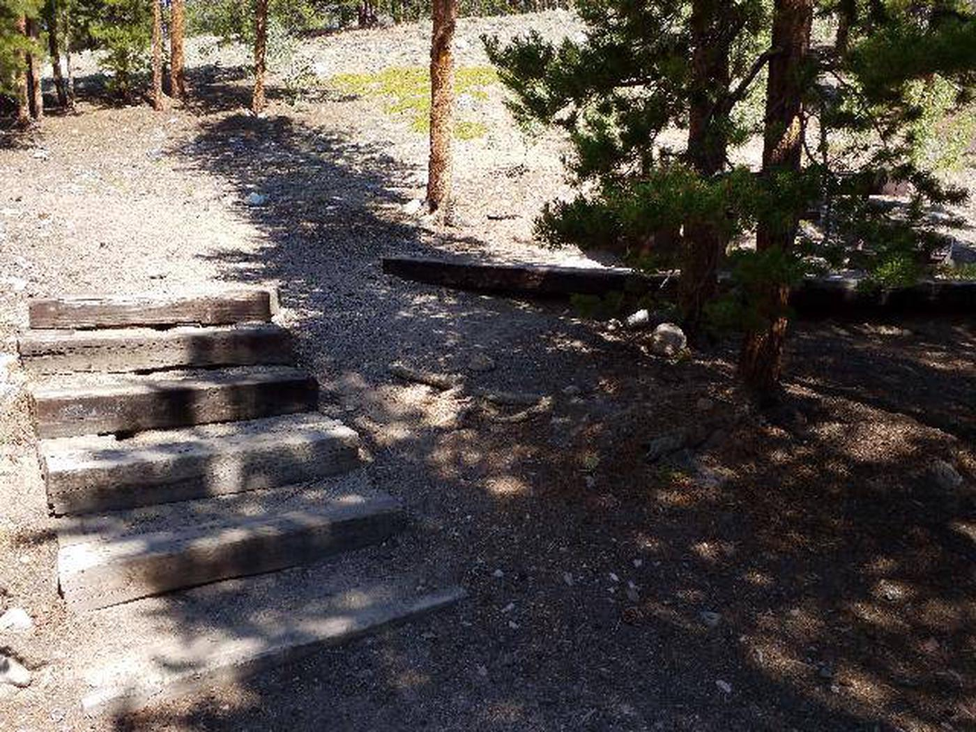 Lakeview Campground, site C5 stairs