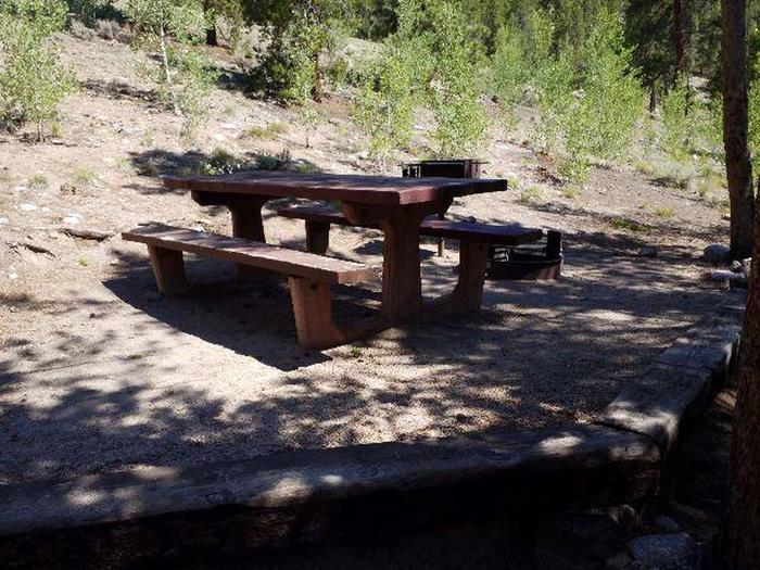 Lakeview Campground, site C5 picnic table