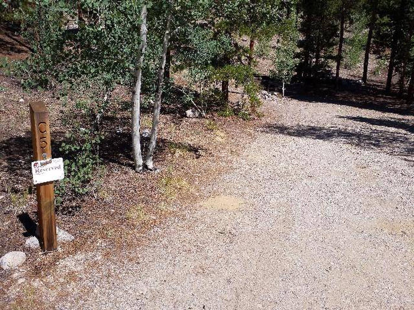 Lakeview Campground, site C5 marker