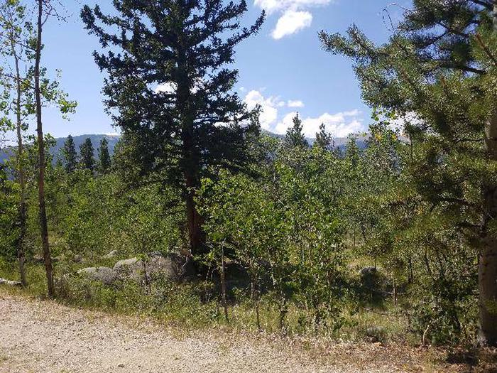 Lakeview Campground, site D2 view