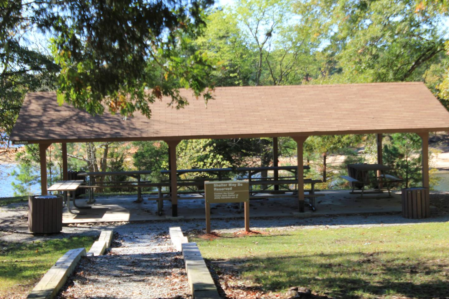 OSAGE Welcome to North Bend Park! This is the Osage Picnic Shelter. This shelter is located between the Amphitheater and the Day Use Area in North Bend Park.