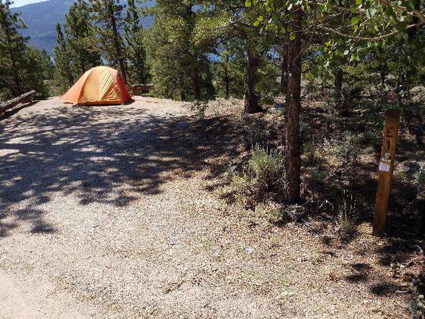 Lakeview Campground, site E1 camping spot