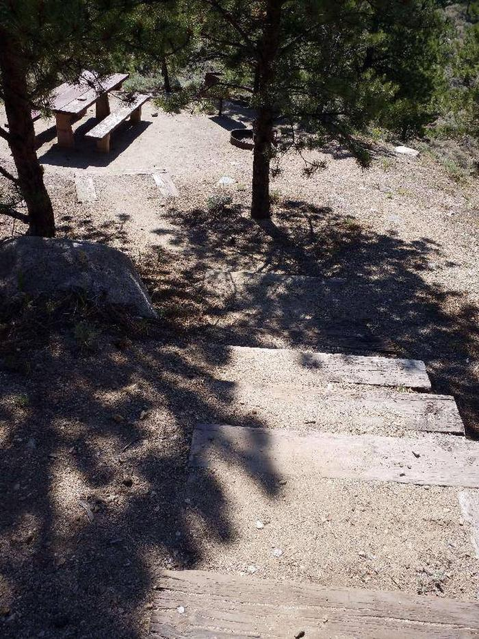 Lakeview Campground, site E1 stairs