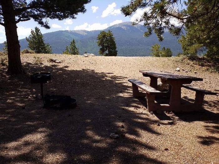 Lakeview Campground, site E11 picnic table